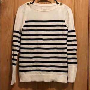 J. Crew factory cream and navy striped sweater
